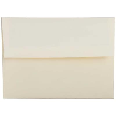 JAM Paper® A2 Invitation Envelopes, 4 3/8 x 5 3/4, Strathmore Natural White Linen, 250/box (99761H)