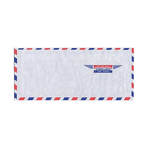 JAM Paper® #10 Airmail Envelopes, 4.125 x 9.5, White, 50/Pack (A35532I)