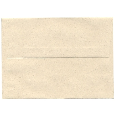 JAM Paper® A7 Invitation Envelopes, 5.25 x 7.25, Gypsum Ivory Recycled, 50/pack (CPPT703I)
