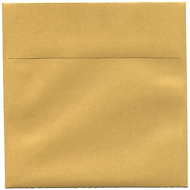 JAM Paper® 6.5 x 6.5 Square Envelopes, Stardream Metallic Gold, 50/Pack (GCST508I)