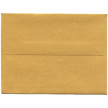 JAM Paper® A2 Invitation Envelopes, 4.38 x 5.75, Stardream Metallic Gold, 250/Pack (GCST608H)