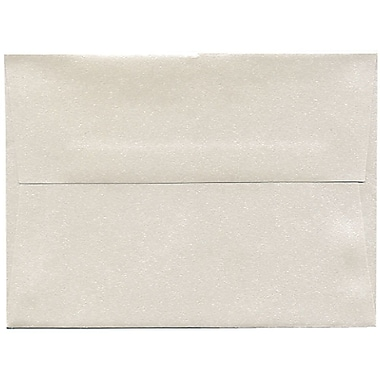 JAM Paper Enveloppes Stardream A6 à effet métallisé, quartz, 250/paquet