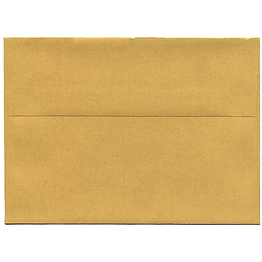 JAM Paper® A7 Invitation Envelopes, 5.25 x 7.25, Stardream Metallic Gold, 50/Pack (GCST708I)