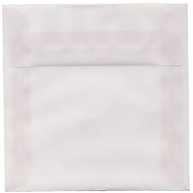 JAM Paper® 6 x 6 Square Envelopes, Clear Translucent Vellum, 50/Pack (GTGN515I)