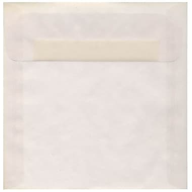 JAM Paper® 8.5 x 8.5 Square Envelopes, Clear Translucent Vellum, 250/Pack (GTGN530H)