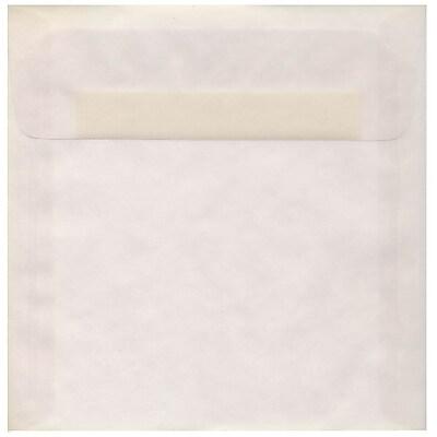 JAM Paper® 8.5 x 8.5 Square Envelopes, Clear Translucent Vellum, 50/pack (GTGN530I)