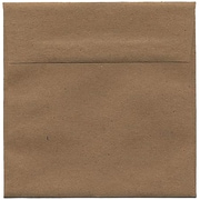 JAM Paper® 6 x 6 Square Invitation Envelopes, Brown Kraft Paper Bag, Bulk 250/Box (LEKR502H)