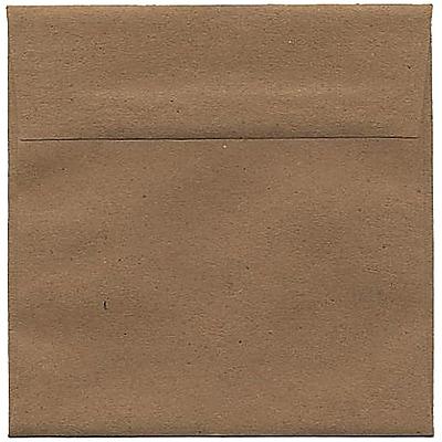 JAM Paper® 6 x 6 Square Envelopes, Brown Kraft Paper Bag Recycled, 250/box (LEKR502H)