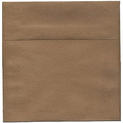 JAM Paper® 8.5 x 8.5 Square Envelopes, Brown Kraft Paper Bag Recycled, 250/box (LEKR505H)