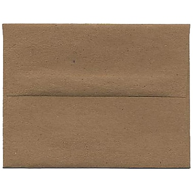 JAM Paper® A2 Invitation Envelopes, 4.38 x 5.75, Brown Kraft Paper Bag Recycled, 250/Pack (LEKR600H)