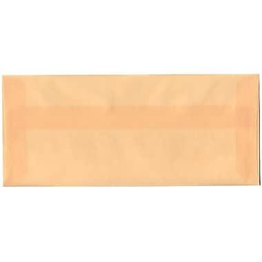 JAM Paper – Enveloppes commerciales nº 10 (4,13 x 9,5 po) en papier vélin translucide, ocre printanier, boîte de 500