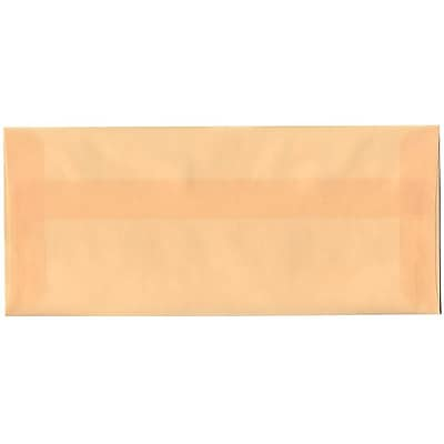 JAM Paper® #10 Business Envelopes, 4 1/8 x 9 1/2, Spring Ochre Ivory Translucent Vellum, 50/pack (PACV350I)