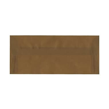 JAM Paper® #10 Business Envelopes, 4 1/8 x 9 1/2, Earth Brown Translucent Vellum, 50/pack (PACV351AI)