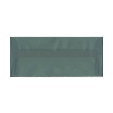 JAM Paper – Enveloppes nº 10 (4,13 x 9,5 po) en papier vélin translucide, bleu océan, boîte de 500