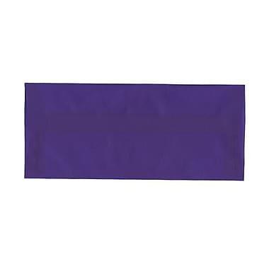 JAM Paper – Enveloppes nº 10 (4,13 x 9,5 po) en papier vélin translucide, bleu primaire, boîte de 500