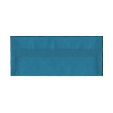 JAM Paper® #10 Business Envelopes, 4 1/8 x 9.5, Aqua Blue Translucent Vellum, 500/Pack (PACV364H)