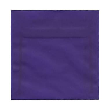 JAM Paper® 6 x 6 Square Envelopes, Purple Translucent Vellum, 50/Pack (PACV517I)