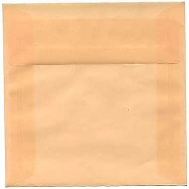 JAM Paper – Enveloppes carrées translucides, 6 x 6 po, ocre printanier, 250/paquet