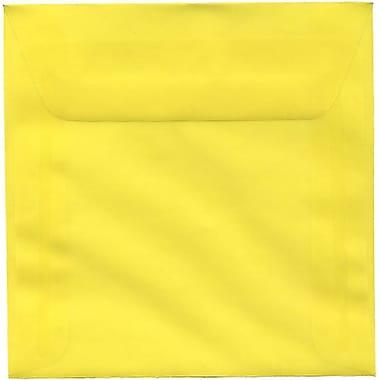 JAM Paper® 6 x 6 Square Envelopes, Yellow Translucent Vellum, 250/Pack (PACV516H)