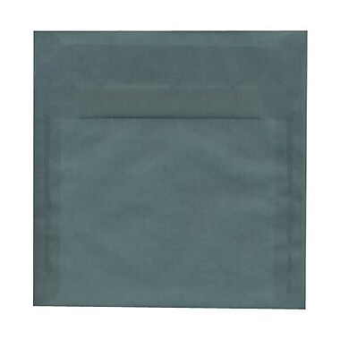 JAM Paper® 8.5 x 8.5 Square Envelopes, Ocean Blue Translucent Vellum, 250/Pack (PACV532H)