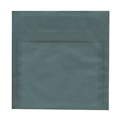 JAM Paper® 8.5 x 8.5 Square Envelopes, Ocean Blue Translucent Vellum, 250/box (PACV532H)