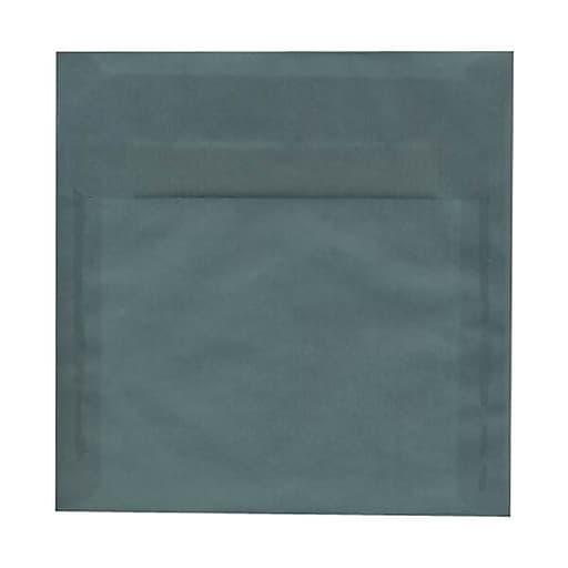 JAM Paper® 8.5 x 8.5 Square Translucent Vellum Invitation Envelopes, Ocean Blue, Bulk 250/Box (PACV532H)