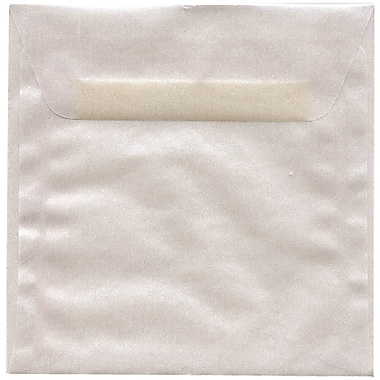 JAM Paper® 6 x 6 Square Envelopes, Platinum Translucent Vellum, 250/box (PACV576H)