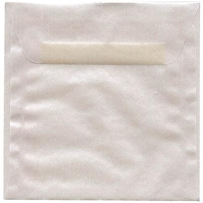 JAM Paper® 6 x 6 Square Envelopes, Platinum Translucent Vellum, 250/box (PACV576H)