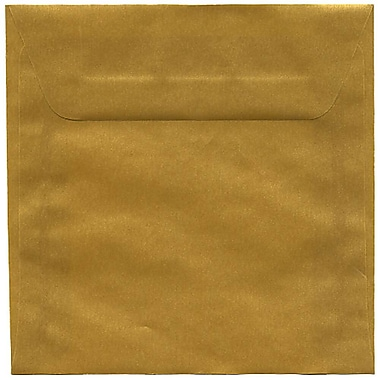 JAM Paper® 6 x 6 Square Envelopes, Gold Translucent Vellum, 50/Pack (PACV577I)