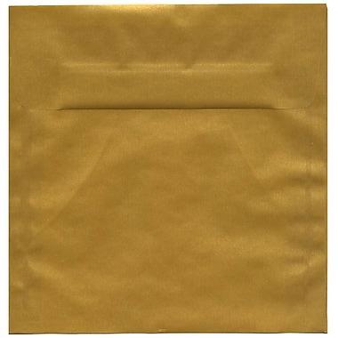 JAM Paper – Enveloppes carrées translucides, doré, 8,5 x 8,5 po, 250/paquet