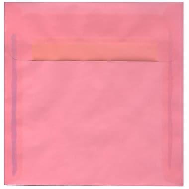 JAM Paper – Enveloppes carrées translucides, 8,5 x 8,5 po, rose dragée, 250/paquet