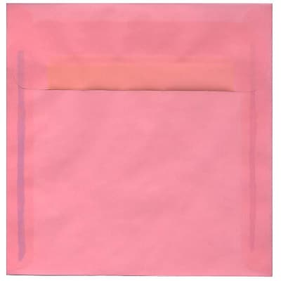 JAM Paper® 8.5 x 8.5 Square Envelopes, Blush Pink Translucent Vellum, 250/box (PACV598H)