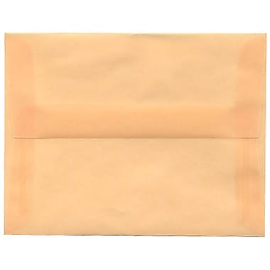 JAM Paper – Enveloppes translucides A2, ocre printemps, 250/paquet