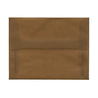 JAM Paper® A2 Invitation Envelopes, 4 3/8 x 5 3/4, Earth Brown Translucent Vellum, 50/pack (PACV601AI)