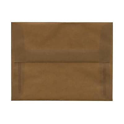 JAM Paper® A2 Invitation Envelopes, 4 3/8 x 5 3/4, Earth Brown Translucent Vellum, 250/box (PACV601AH)