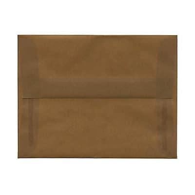 JAM Paper® A2 Invitation Envelopes, 4 3/8 x 5 3/4, Earth Brown Translucent Vellum, 250/box (PACV601AH)
