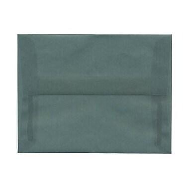 JAM Paper® A2 Invitation Envelopes, 4 3/8 x 5 3/4, Ocean Blue Translucent Vellum, 250/box (PACV602H)
