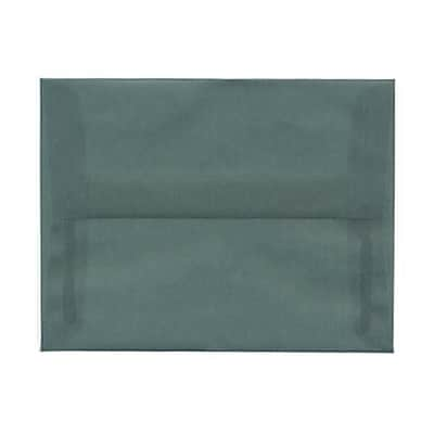 JAM Paper® A2 Invitation Envelopes, 4 3/8 x 5 3/4, Ocean Blue Translucent Vellum, 50/pack (PACV602I)