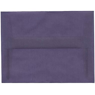 JAM Paper® A2 Invitation Envelopes, 4.38 x 5.75, Wisteria Purple Translucent Vellum, 250/Pack (PACV604H)