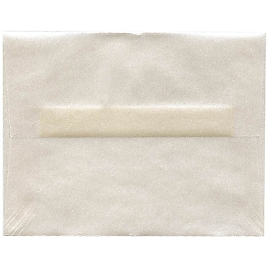 JAM Paper® A2 Invitation Envelopes, 4.38 x 5.75, Platinum Translucent Vellum, 250/Pack (PACV616H)