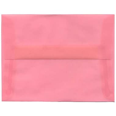 JAM Paper® A2 Invitation Envelopes, 4.38 x 5.75, Blush Pink Translucent Vellum, 50/Pack (PACV618I)