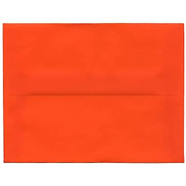JAM Paper – Enveloppes translucides A2, orange, 250/paquet