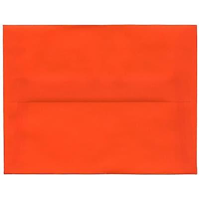 JAM Paper® A2 Invitation Envelopes, 4 3/8 x 5 3/4, Orange Translucent Vellum, 250/box (PACV619H)
