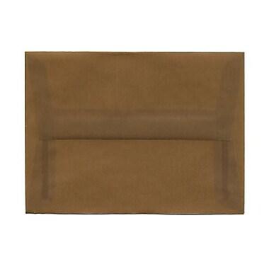 JAM Paper – Enveloppes A6 translucides, brun terre, 50/pqt