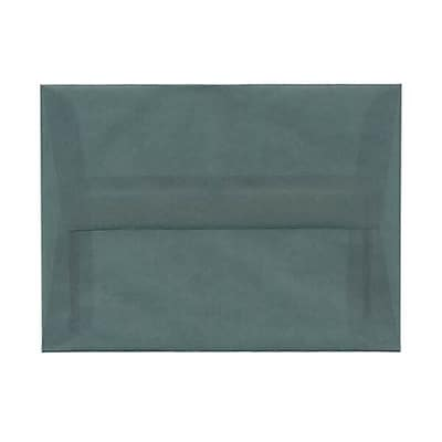 JAM Paper® A6 Invitation Envelopes, 4.75 x 6.5, Ocean Blue Translucent Vellum, 250/box (PACV652H)