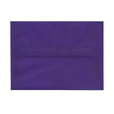 JAM Paper® A6 Invitation Envelopes, 4.75 x 6.5, Purple Translucent Vellum, 50/Pack (PACV657I)