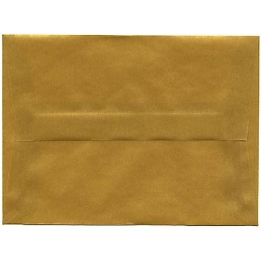 JAM Paper® A6 Invitation Envelopes, 4.75 x 6.5, Gold Translucent Vellum, 50/Pack (PACV667I)