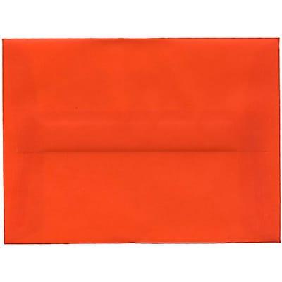 JAM Paper® A6 Invitation Envelopes, 4.75 x 6.5, Orange Translucent Vellum, 50/pack (PACV669I)