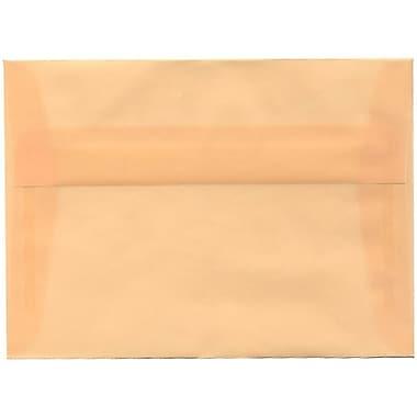 JAM Paper® A7 Invitation Envelopes, 5.25 x 7.25, Spring Ochre Ivory Translucent Vellum, 50/pack (PACV700I)