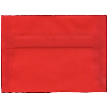 JAM Paper® A7 Invitation Envelopes, 5.25 x 7.25, Red Translucent Vellum, 250/Pack (PACV705H)